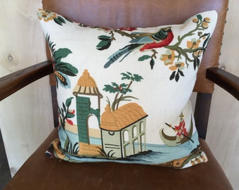 "Brunschwig & Fils ""Maison Hamot, Paris""  ""Le Lac"" Pillow"