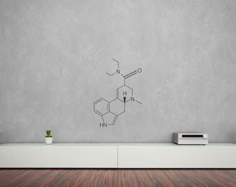 Molecular Structure Of LSD Vinyl Wall Art