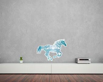 Calligraphy Horse Vinyl Wall Art