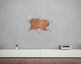 Brick Wall Decal Etsy Uk