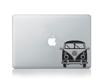 Two Tone Camper Van Vinyl Decal for Macbook (13/15) or Laptop