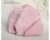 Only 1 piece left!!! ITALIAN VISCOSE Fabric Fur Sweet Dream Baby Pink Colour 6-7 mm pile 1/8 metre or more teddy bear making supplies plush