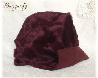 Italian VISCOSE Fabric Fur Burgundy Colour 6-7 mm pile 1/8 metre or more teddy bear making supplies plush