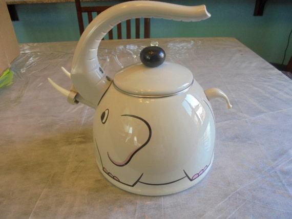 Unique Tea Kettles ~ Kamenstein elephant tea kettle vintage unique fun