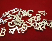 """26pc """"alphabet letter set"""" charms in antique silver style (BC452)"""