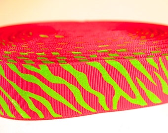 "5 yards of 7/8 inch ""glow in the dark"" grosgrain ribbon"