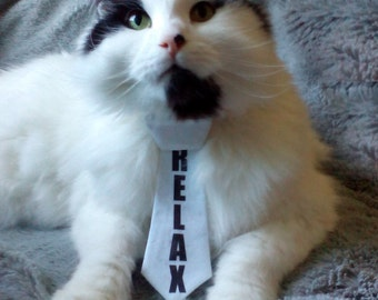 Retro Relax Necktie for cats. Cat accesories. 1980's