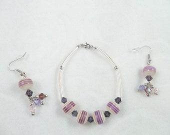 Lavender Bracelet & Earring Set