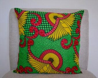 Manyara - Genuine African Wax Fabric Cushions / Pillow Covers 18x18