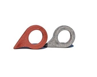 Minimalist Ring-Concrete Jewelry-Concrete Unique Ring-Unique Shape Ring-Cement Ring-Cement Jewelry-Minimalist Cement Ring