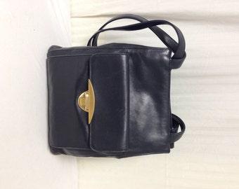 Blue Leather purse,bag, Shoulder Bag, Dark Blue,Purses, Charter Club