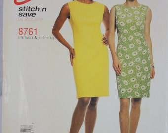 Easy Stitch 'n Save Pattern 8761 Dress (8, 10, 12, 14) 1997 Uncut