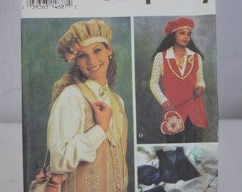 Simplicity Pattern No. 8700 (BB 14,16,18,20) 1993 Hat, Vest, Purse Uncut