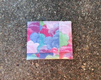 Colorful Clouds Ducttape Accordion Wallet
