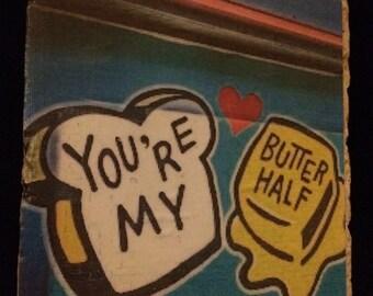 Austin, Texas street art travertine coaster