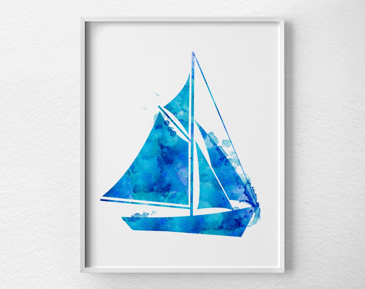 Sailboat Art Sailboat Print Nautical Decor Nautical