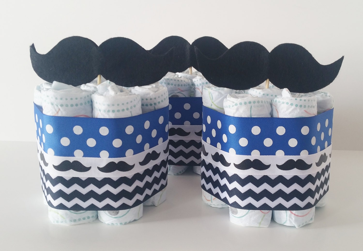 mustache diaper cake centerpieces little man baby shower