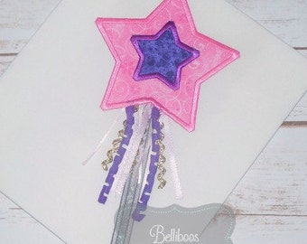 3D Princess Wand Applique