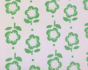 One Half Yard of Fabric - Spring Green Flowers