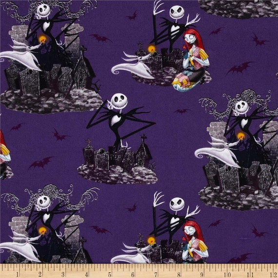 Springs creative the nightmare before christmas allover purple