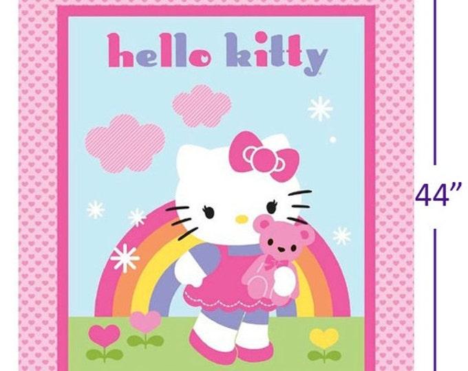 Springs Creative - Hello Kitty Rainbow Panel - Cotton Fabric