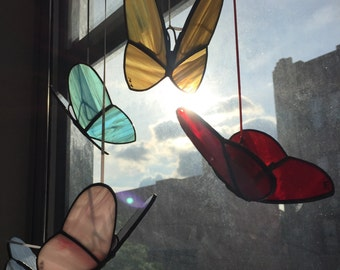 Hand-Crafted, Stained Glass Butterfly Ornaments by Krista