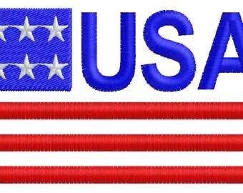 U.S.A Flag Embroidery Design