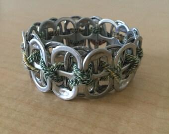 Elastic soda tab bracelet
