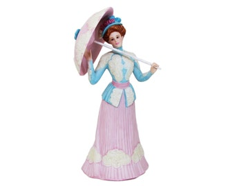 Sunday Promenade The Parasol Ladies Porcelain Figurine by Gorham Victorian Gibson Lenox Limited Edition