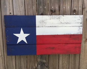 Texas flag Pallet Sign, Recycled pallet sign, wooden Texas art, Texas wall decor, Reclaimed wood flag, Rustic home decor,
