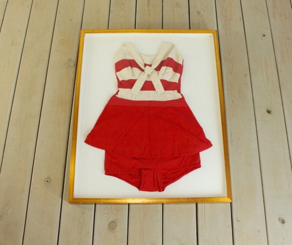 1930 S Framed Vintage Swimsuit Bathing Suit Retro By