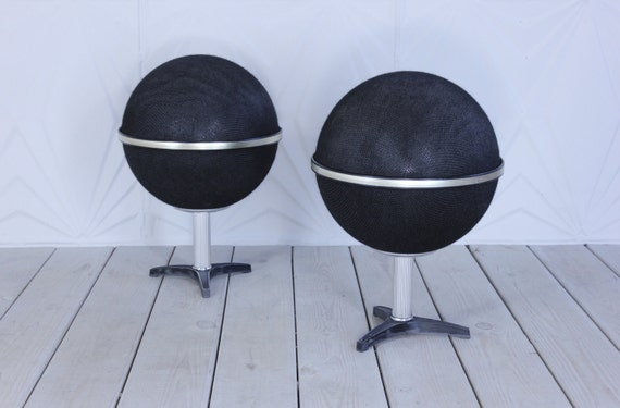 70 S Round Globe Speakers Stereo Audio Modern Retro Atomic
