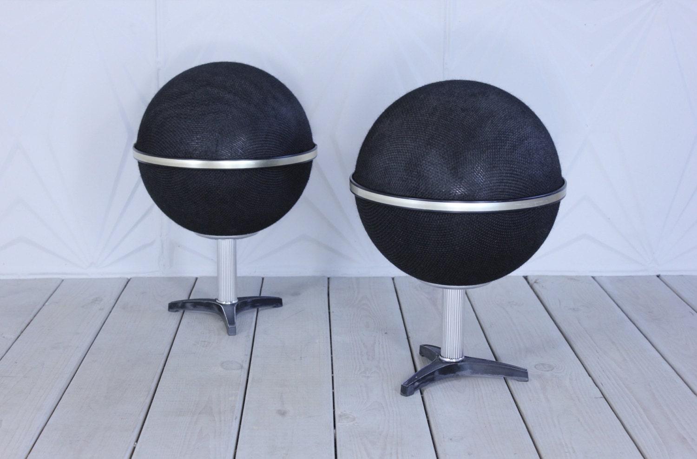 70 S Round Globe Speakers Stereo Audio Modern Retro Atomic