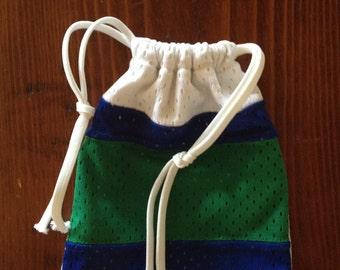 Mini-Drawstring Upcycled Jersey Bag