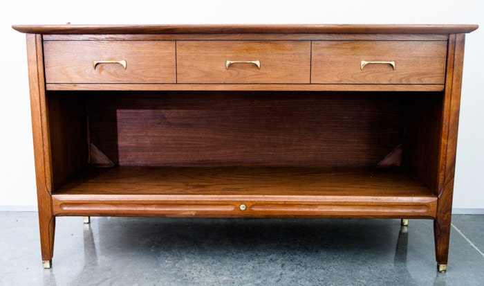 mid century modern teak buffet credenza sideboard cm vintage 1960s 60s. Black Bedroom Furniture Sets. Home Design Ideas