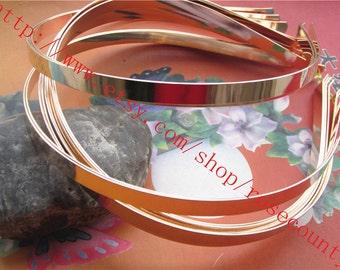 wholesale 20pcs 7mm width KC gold hairbands metal findings