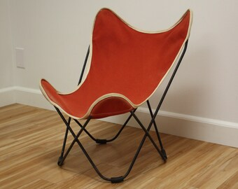 Vintage Child's / Kid's Knoll Hardoy Butterfly Chair w/ Cover