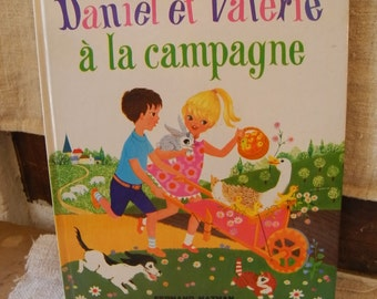 "Vintage french book for children ""Daniel et Valérie"" by  Fernand Nathan 1969"