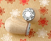 Gingerbread Star - Mini stamp Ø 1,4 cm