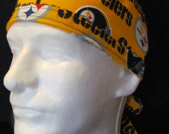Pittsburgh Steelers NFL Football Tie Back Surgical Scrub Hat Cap