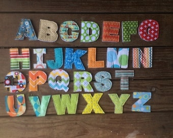 Fabric Letters Fabric Alphabet Letter Set  with Carrying Bag