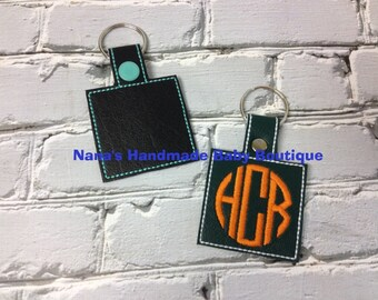 BLANK SQUARE - In The Hoop - Snap/Rivet Key Fob - DIGITAL Embroidery Design