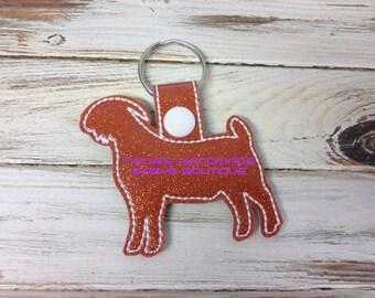 BOER GOAT  In The Hoop - Snap/Rivet Key Fob - DIGITAL Embroidery Design