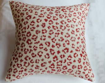 Red and White Leopard Spotted Pillow Cover!