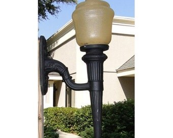 Big Victorian Outdoor Garden Architectural Wall Sconce, Lighting Light Fixture Lamp