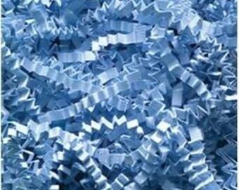 Crinkle Cut/Shred Paper Basket and Party Bag Filler 8 oz pkg Color Light Blue Free Shipping