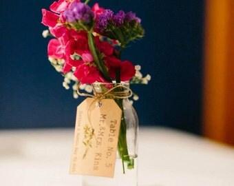 Wedding WildFlower Custom Name tags - Wedding table tags - Wedding Name Tags -  Printable Digital Program - Simple Wedding tags