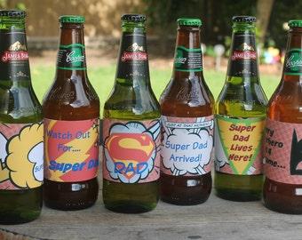 Super Dad Beer Labels