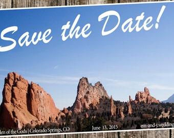 Save The Dates -  Destination Wedding- postcard style
