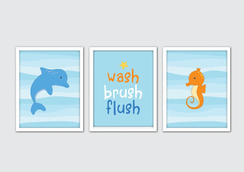 Ocean Bathroom Decor: Sea Animals Nursery Decor Sea Life Prints Sea Life Wall Art